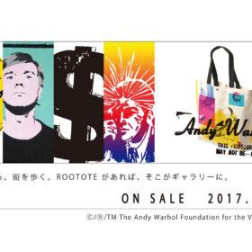 Andy Warhol × ROOTOTE コラボレーショントート Andy Warholの誕生日、8月6日より順次発売!の画像
