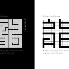 江戸から現代へ、プロダクトデザインに適した漢字書体「真四角書体」がリリースの画像