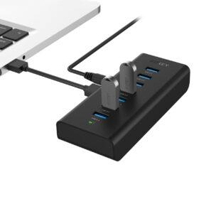 USB端子不足を解決できるUSB3.0ハブAUKEY CB-H3が新発売!USB3.0を7ポートに増設の画像