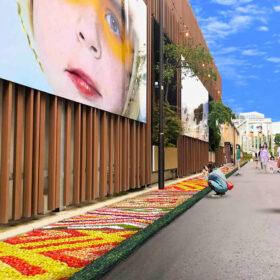 天王洲運河沿いに壮大な花絵を展示「TENNOZ CANAL ART INFIORATA」を10月28日より開催の画像