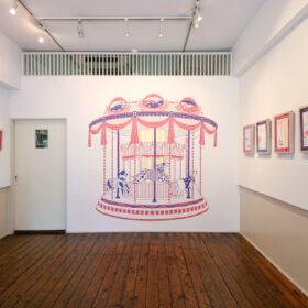 イラストレーター柿崎サラの個展開催に合わせ、最新作をモチーフとした壁紙をリリース 壁紙ブランド「WhO(フー)」の画像