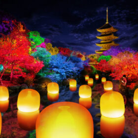 京都で「チームラボ 東寺 光の祭 -TOKIOインカラミ」を開催。創建から約1200年の世界遺産・東寺をインタラクティブなアート空間に。8月6日(金)からの画像